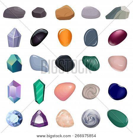 Set Different Stones Vector  Photo (Free Trial) Bigstock
