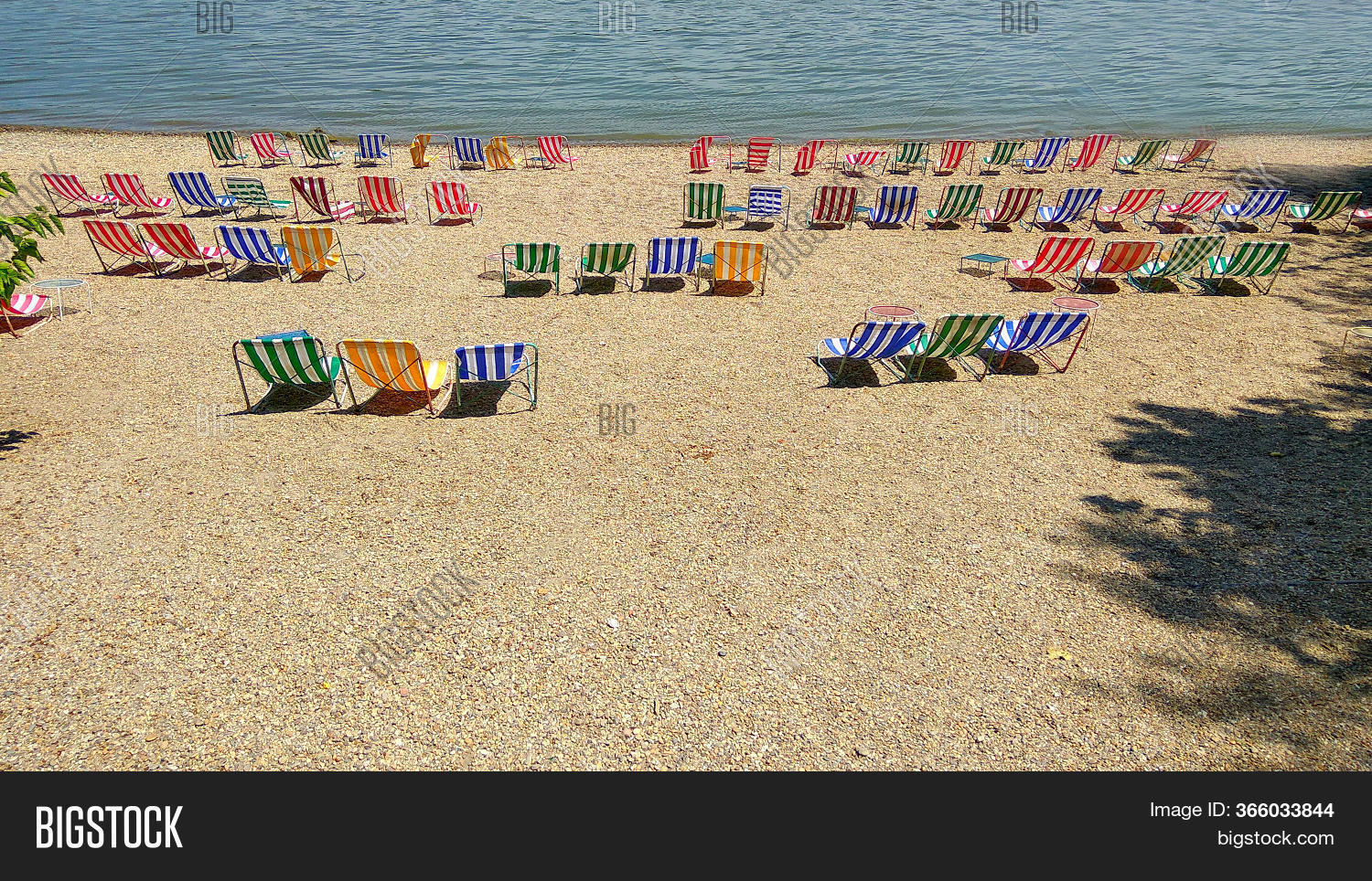 Beach Chairs On Beach Image Photo Free Trial Bigstock