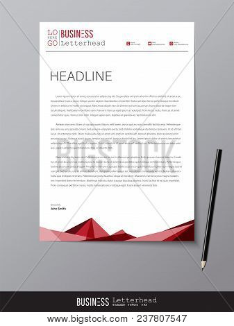 Letterhead Design Template Mockup Vector  Photo Bigstock