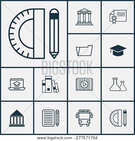 School Icons Set Vector  Photo (Free Trial) Bigstock