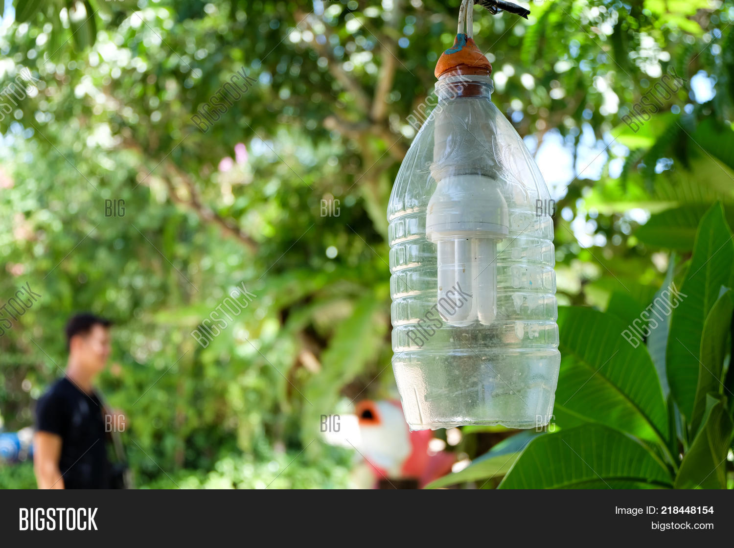 Recycled Plastic Bottle Lamp Garden Lamps Made Image Photo Free Trial Bigstock