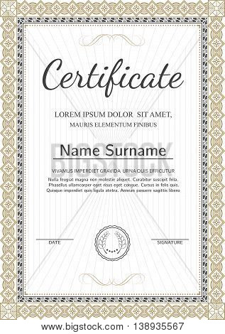 Certificate, Diploma Vector  Photo (Free Trial) Bigstock
