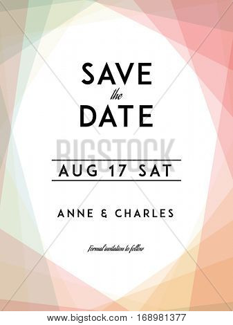 Modern Wedding Save Date Template Vector  Photo Bigstock - Save The Date Wedding Templates