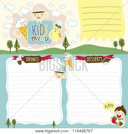 Kids Menu Kids Menu Vector  Photo (Free Trial) Bigstock
