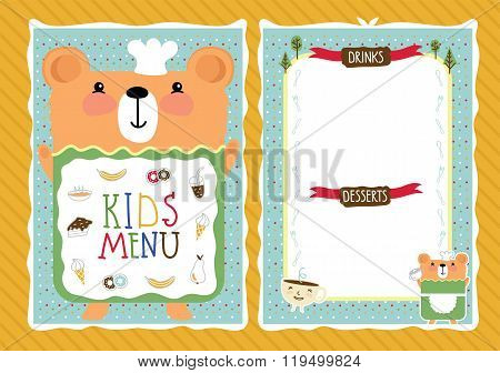 Kids Menu Kids Vector  Photo (Free Trial) Bigstock