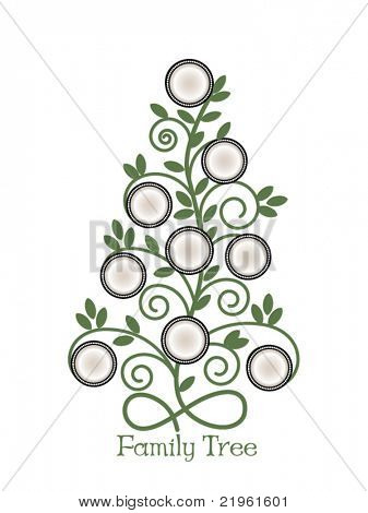 Family Tree Empty Vector  Photo (Free Trial) Bigstock