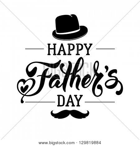 Fathers Day Lettering Vector  Photo (Free Trial) Bigstock