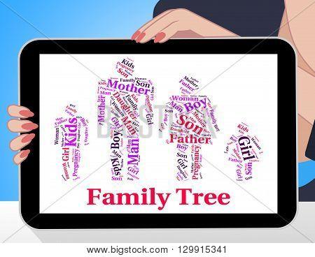 Family Tree Shows Blood Relative Image  Photo Bigstock - family relation tree