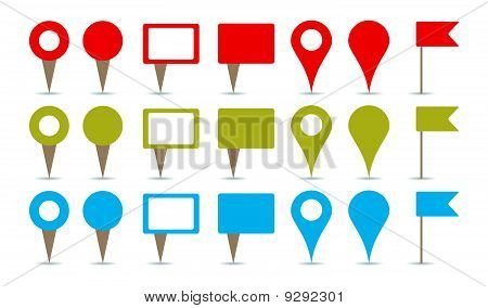 Maps Pins Vector  Photo (Free Trial) Bigstock - pins on a map