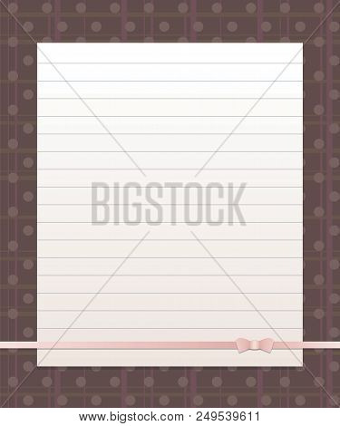 White Paper Lined Vector  Photo (Free Trial) Bigstock
