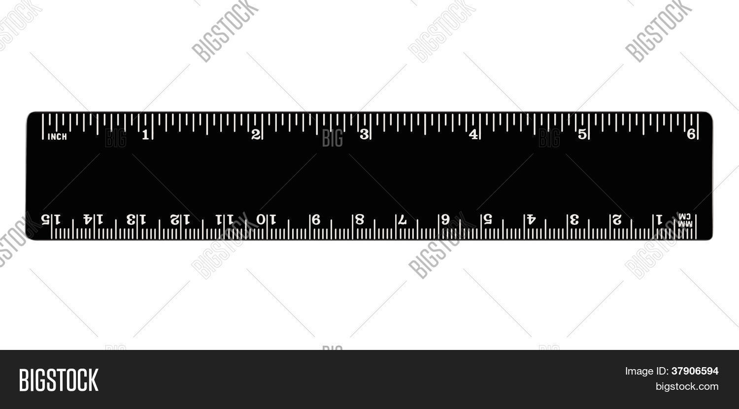 Ich Cm Black Ruler Isolated Image Photo Free Trial Bigstock