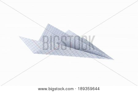 Paper Plane Made Graph Paper Image  Photo Bigstock - 3d graph paper
