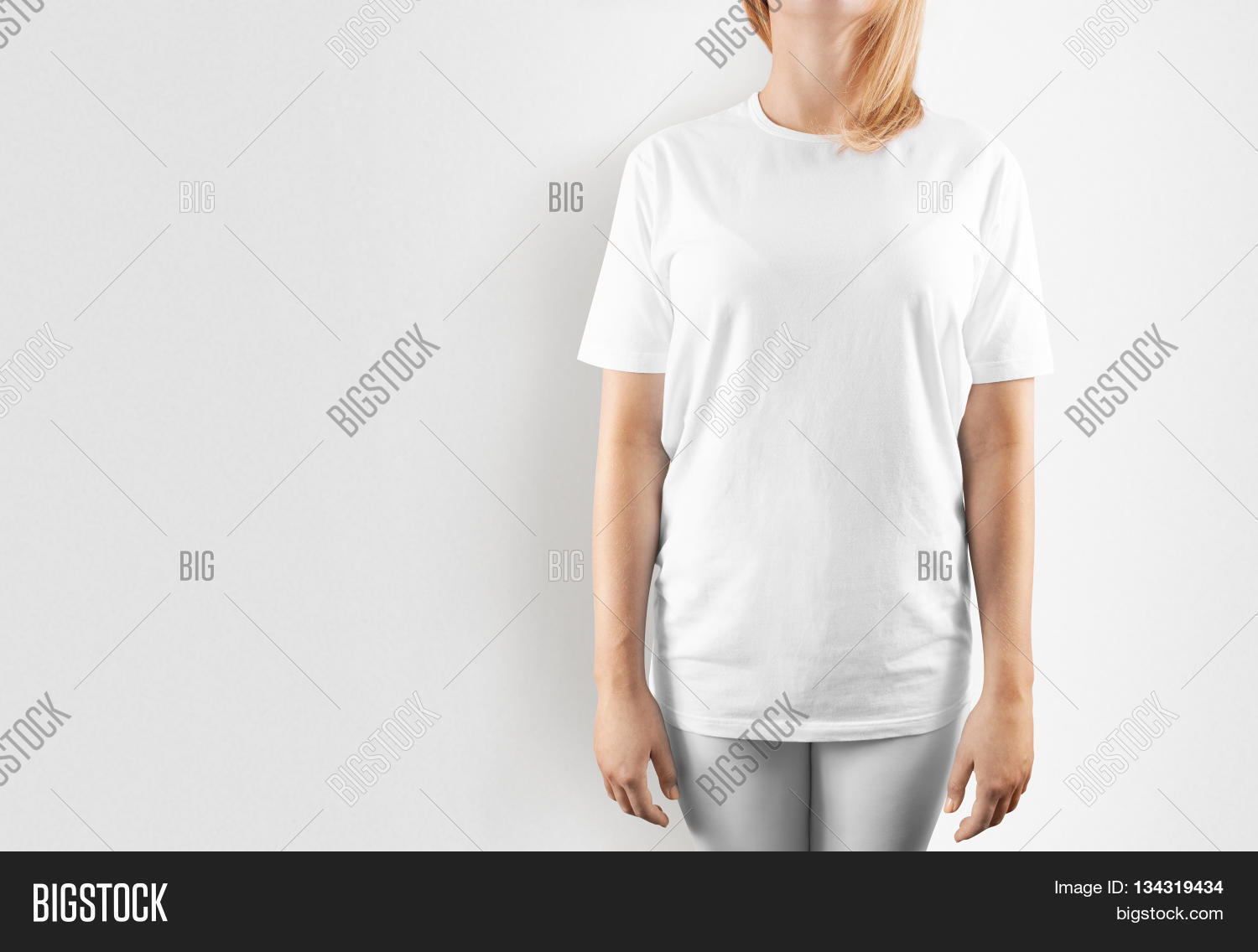 T shirt white mockup -  White T Shirt Design Mockup Isolated Women Tshirt Clear Template Download
