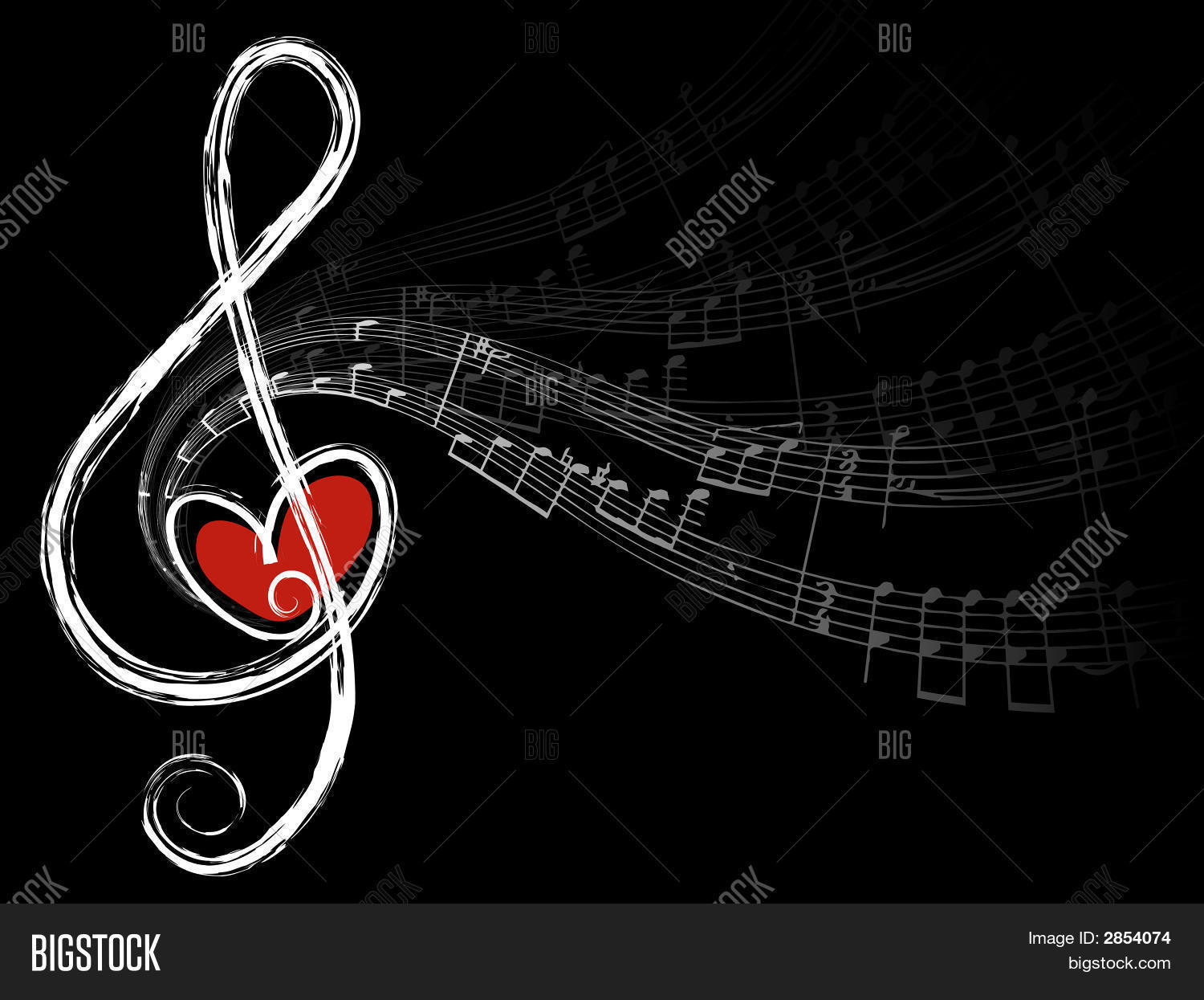 Big Size Wallpapers With Quotes Treble Love Music Notes Vector Vector Amp Photo Bigstock