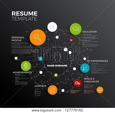 Vector original minimalist cv / resume template - creative profile