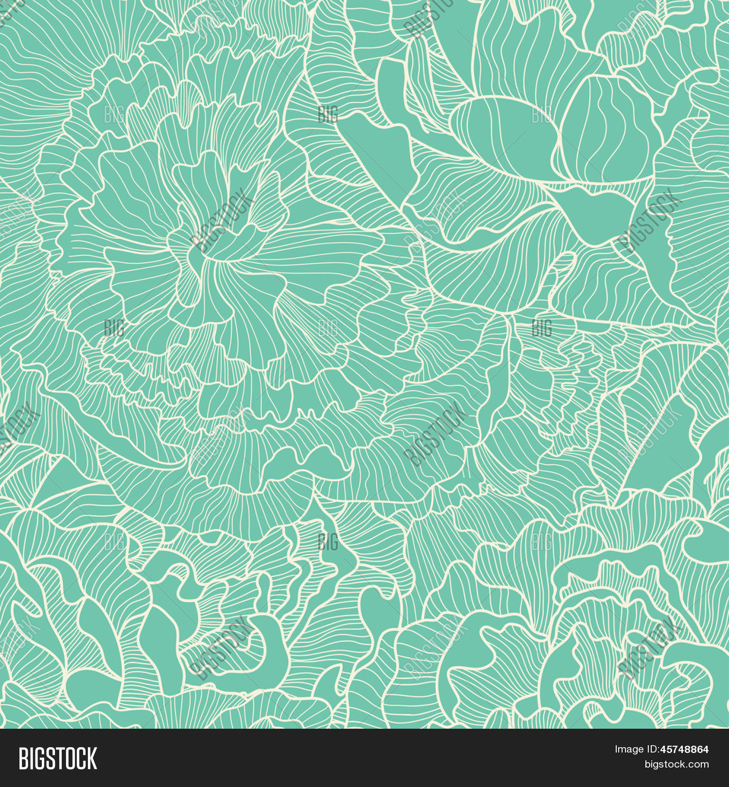Vintage seamless pattern made of peony seamless pattern can be used for wallpapers pattern