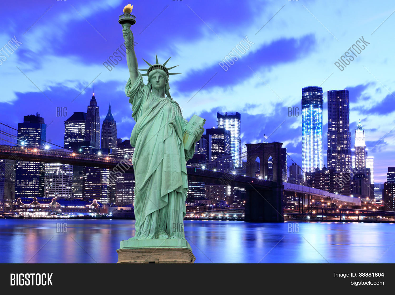 Live Niagara Falls Wallpaper Brooklyn Bridge And The Statue Of Liberty At Night New