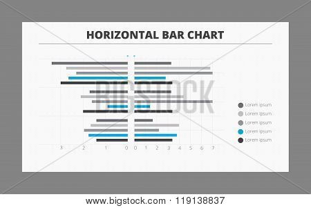 Two-sided Horizontal Bar Chart Template Stock Vector \ Stock - bar chart template