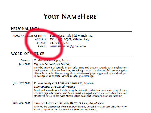 how to write your phone number on a resume how to include your contact information on