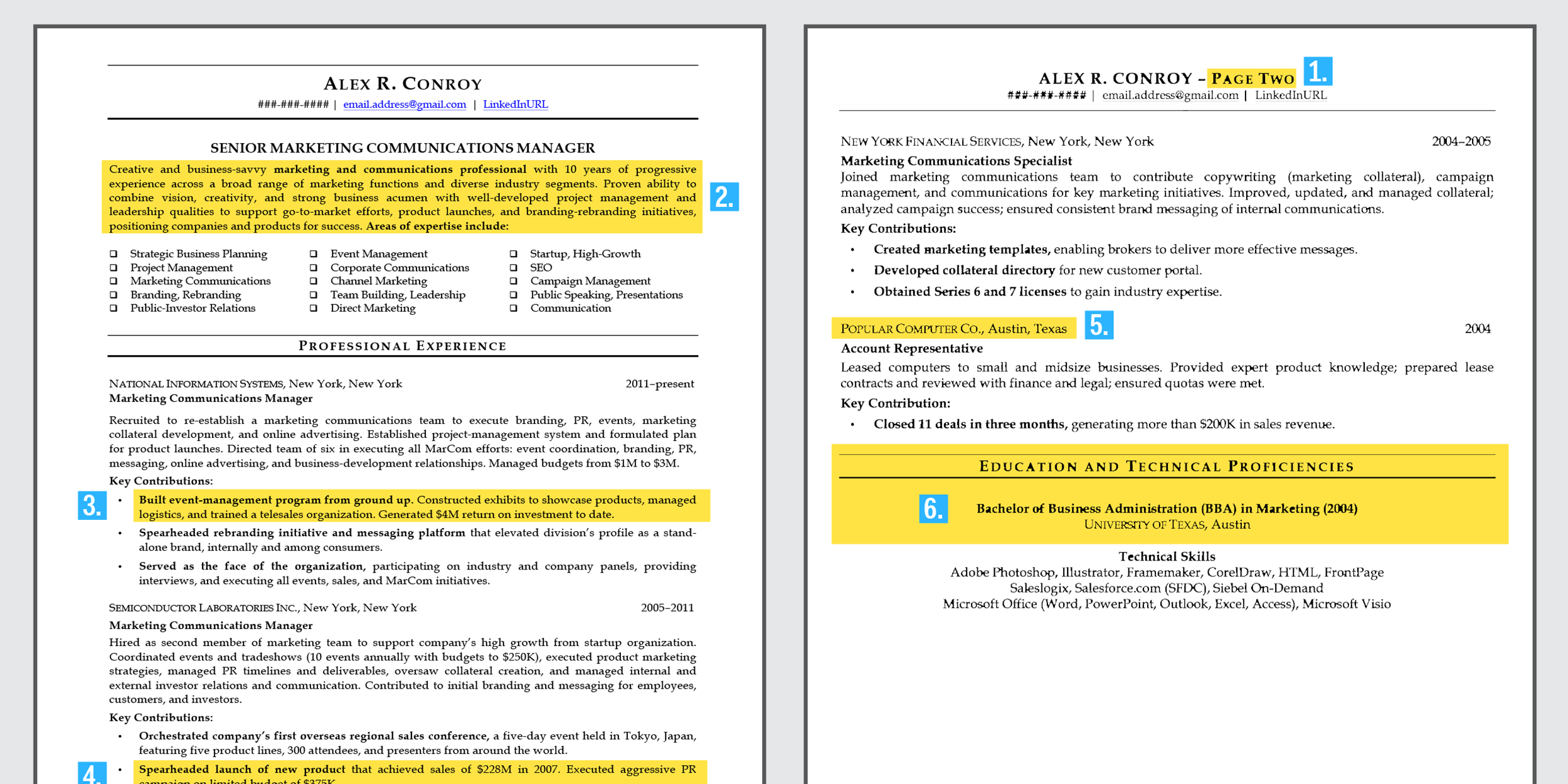 Ideal Resume For Mid-Level Employee - Business Insider - the perfect resume template