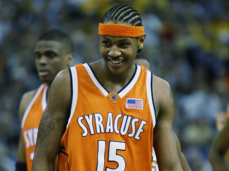 Carmelo Anthony in 2003 (18 years old).