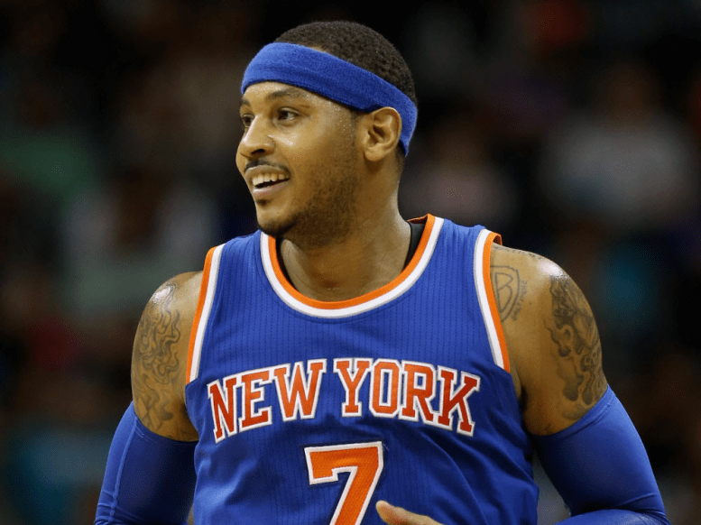 Carmelo Anthony now.