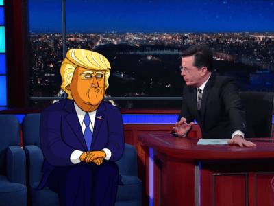 Stephen Colbert cartoon Donald Trump - Business Insider