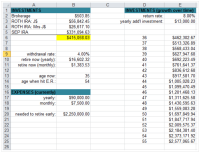 I built a spreadsheet to calculate what it would take to ...