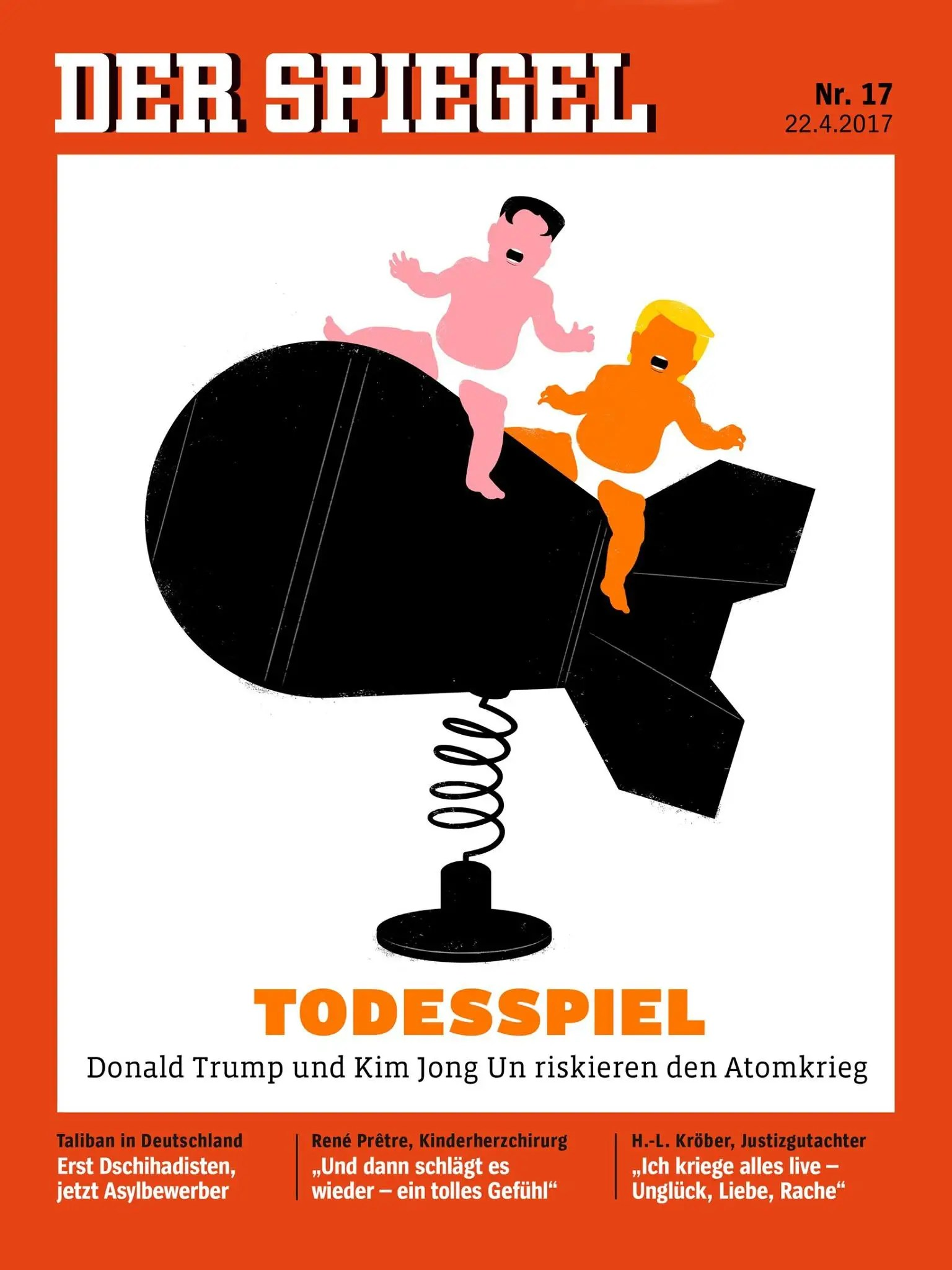 Spiegel Trump Test Der Spiegel Cover Kim Jong Un And Trump On Warhead