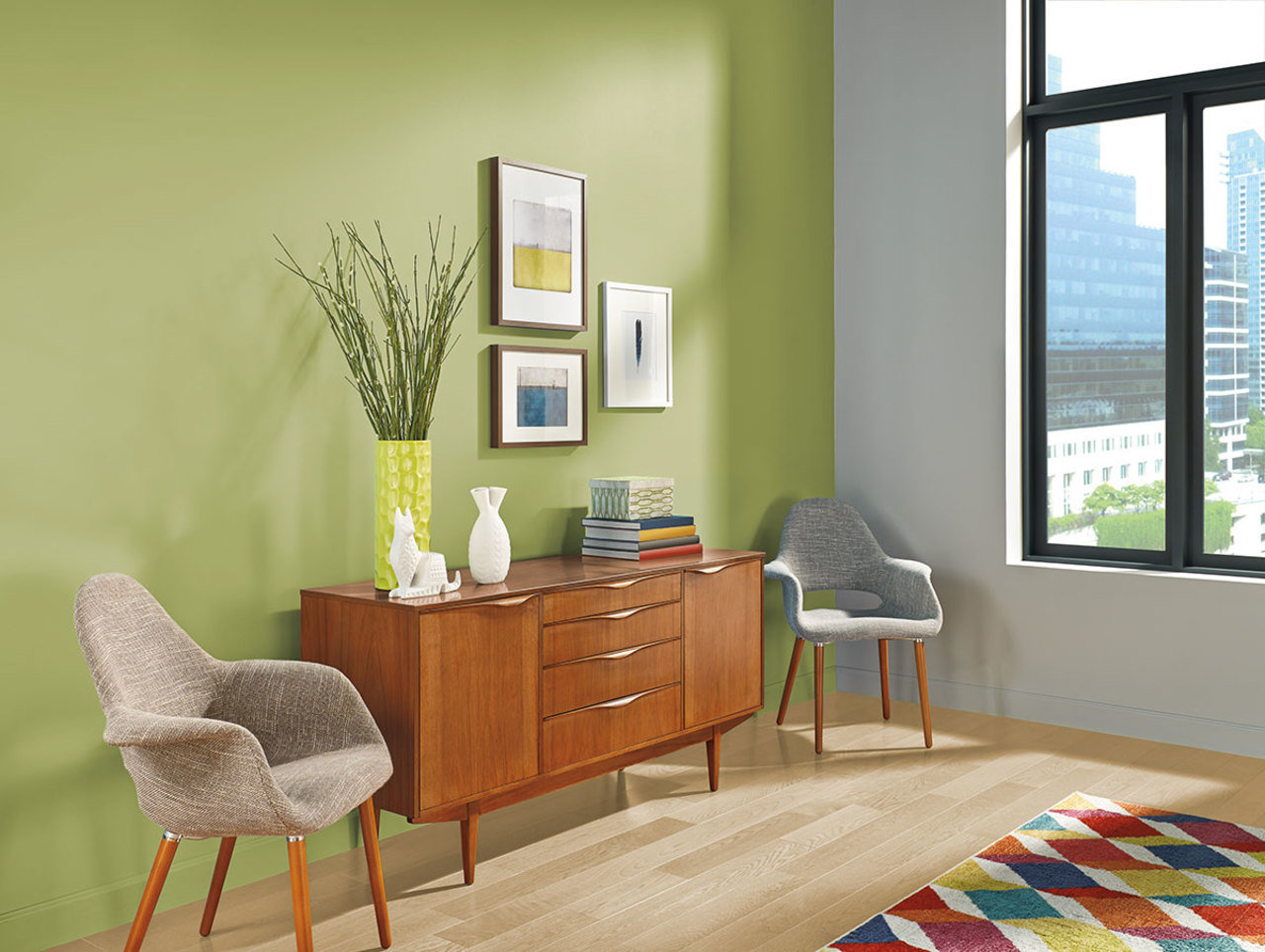 Green Accent Wall How To Choose The Right Paint Color For Your Home