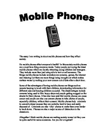 An essay on the effects of cellphones