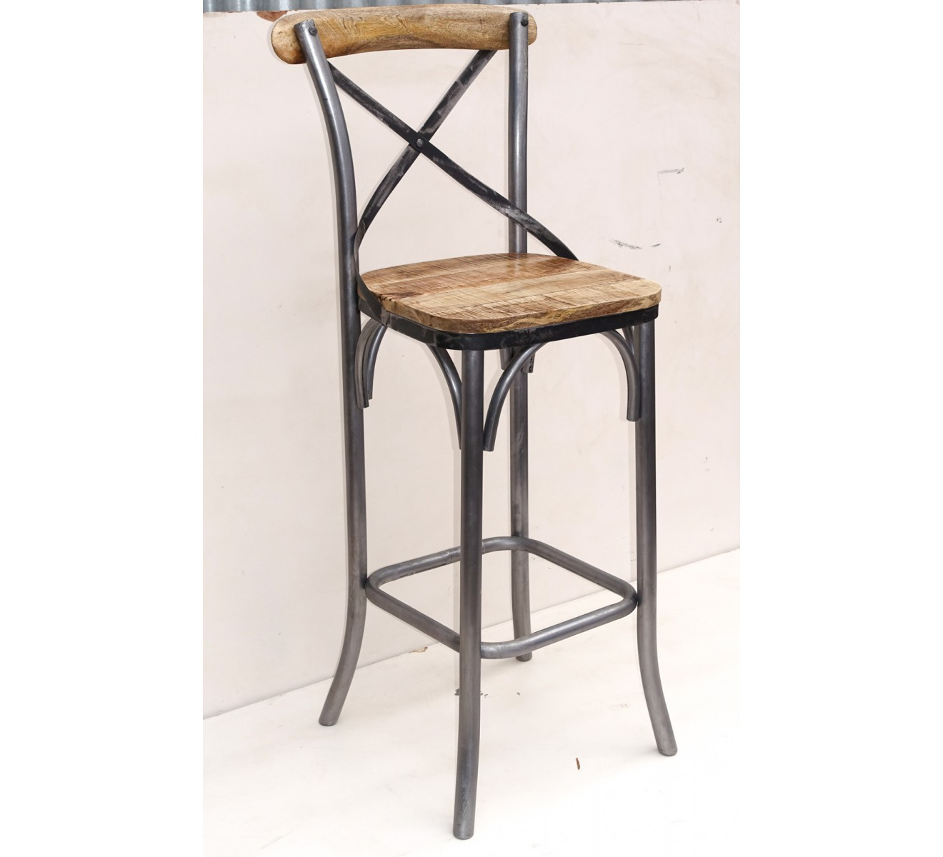 Tabourets Bar Lot De 2 Chaises De Bar Loft
