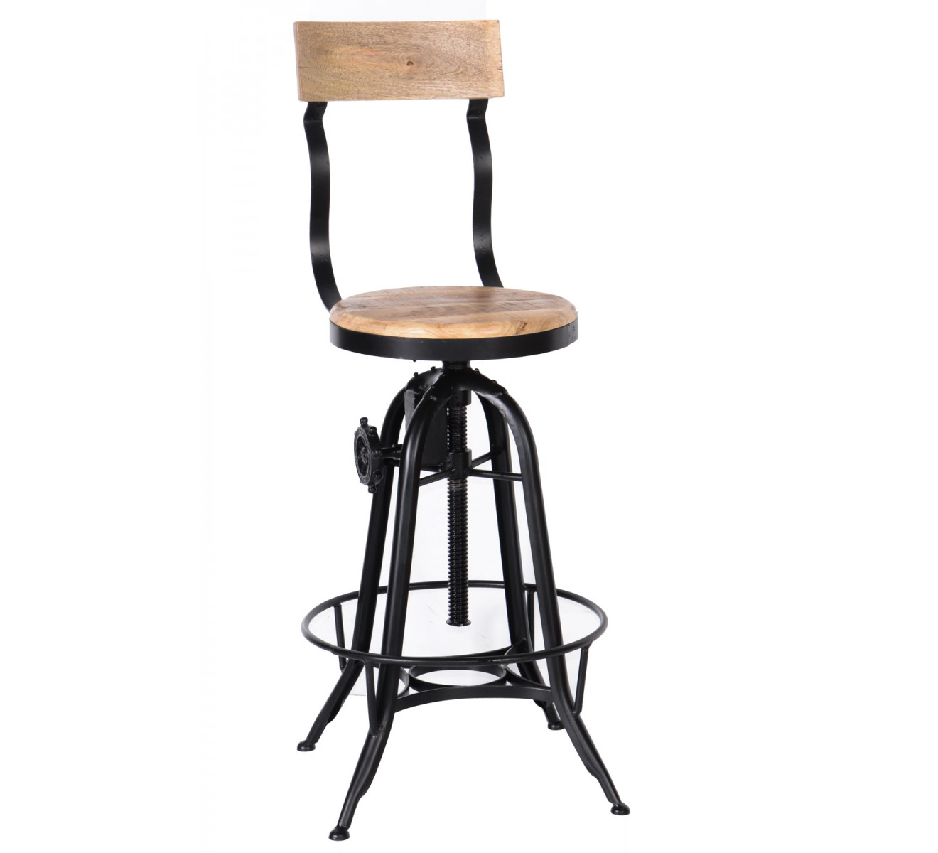 Tabourets Bar Style Industriel Tabouret De Bar Pin Massif Fer 6953
