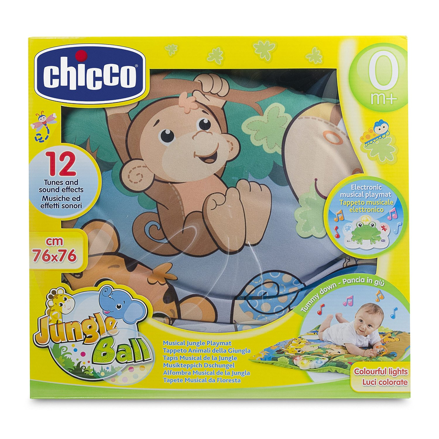 Tappeto Puzzle Baby Smile Chicco Jungle Ball Musical Jungle Playmat