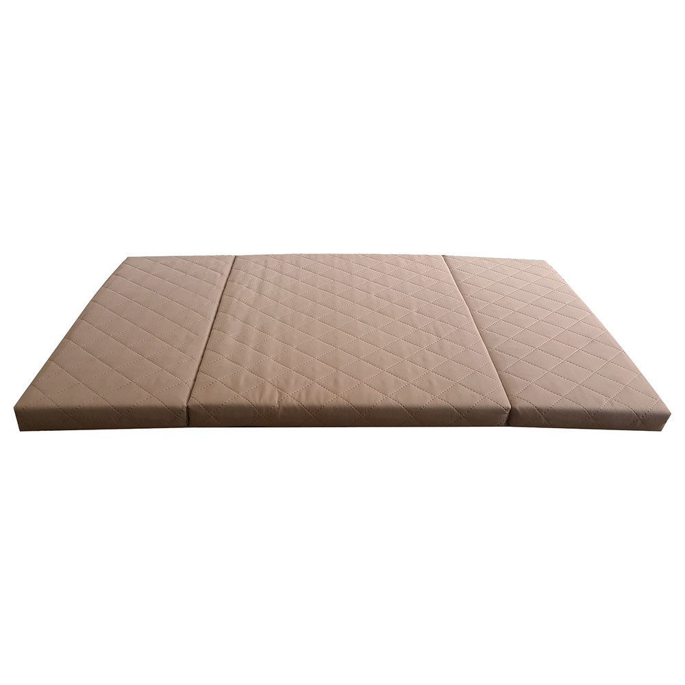 Mattress Cot Saif Sleep 3 Fold Travel Cot Mattress 96x64x4cm Beige