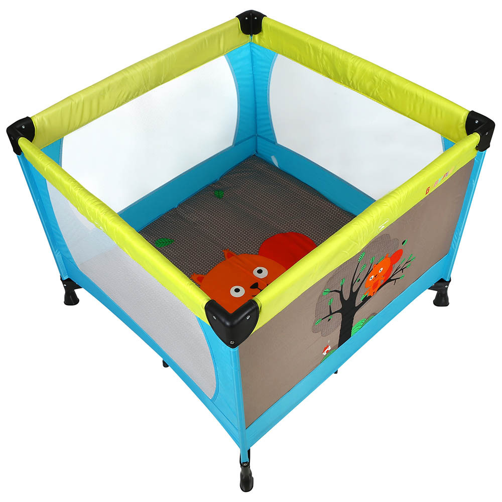 Baby Playpen How Baby Plus Baby Playard Cum Bed Squirrel Blue