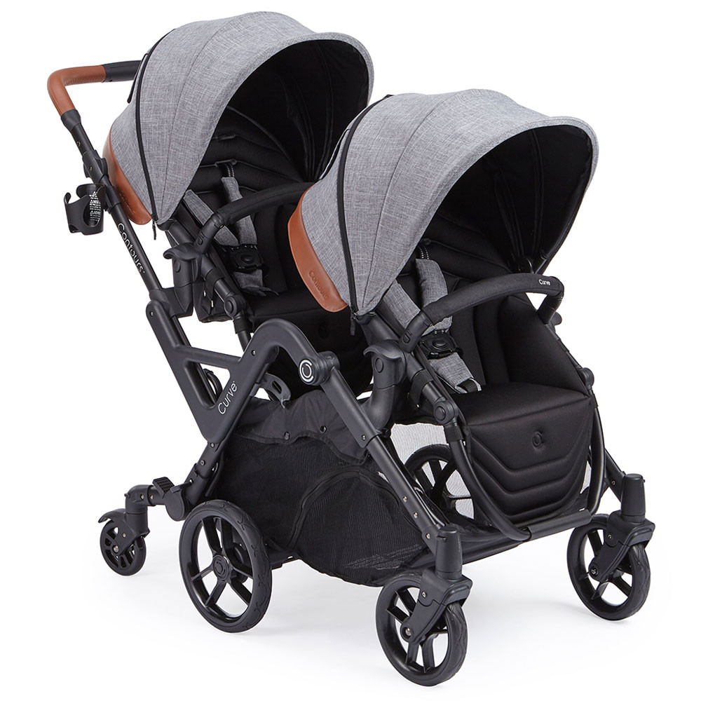 Twin Stroller In Dubai Kolcraft Contours Curve Tandem Twin Stroller Gray