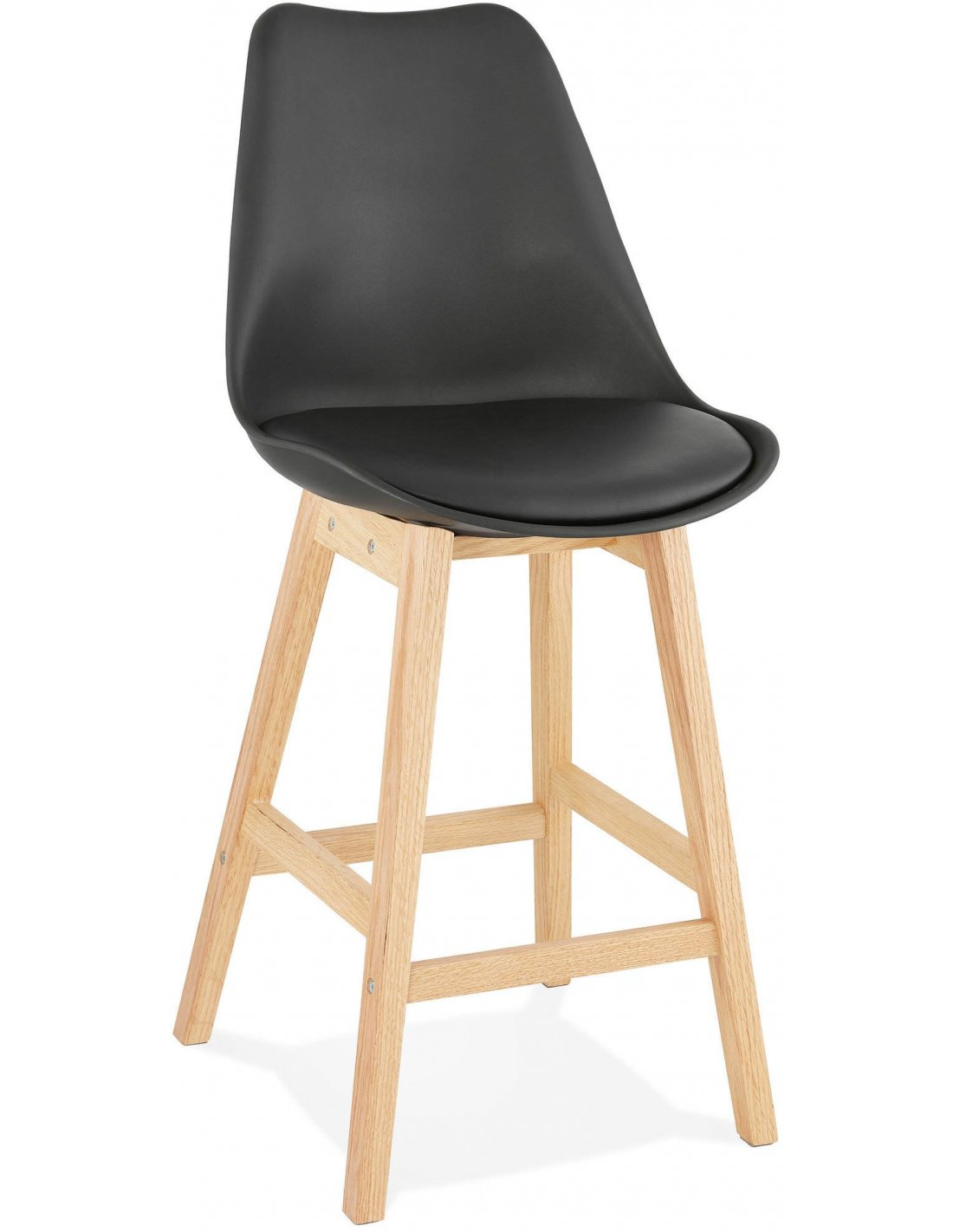 Tabourets De Bar Simili Cuir Noir Tabouret De Bar Design April Mini Kokoon Design Noir