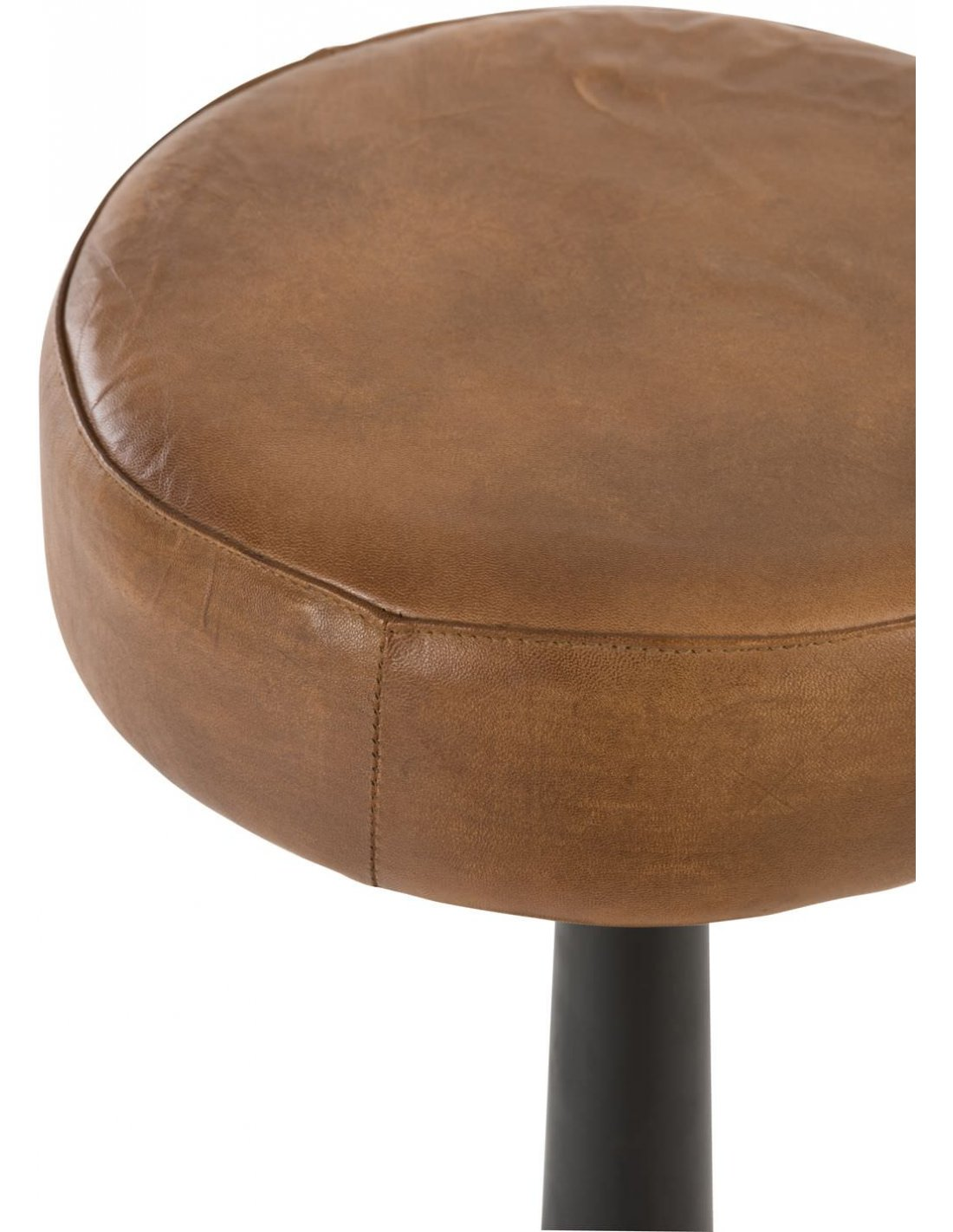 Chaise De Bar En Cuir X2 Tabouret De Bar Cuir Metal Bonnie Rock By J Line à 415 90 Chez