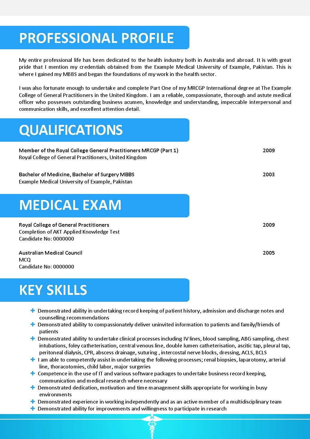 professional doctor resume template