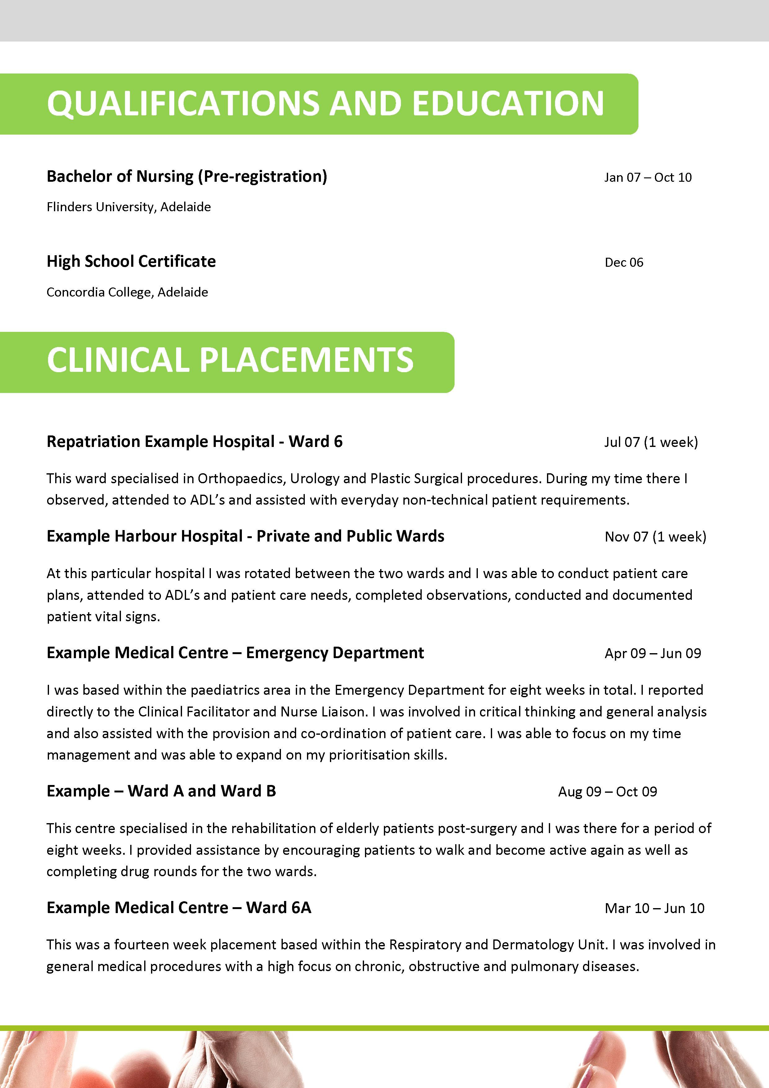 aged care resume examples