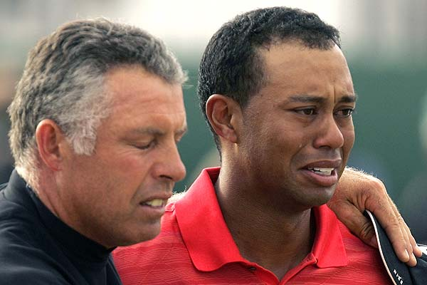 tiger woods crying after winning british open