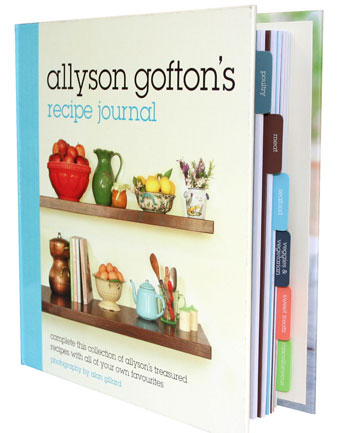 Allyson Gofton\u0027s Recipe Journal Stuffnz - recipe journals