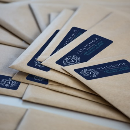 Return Address Label Printing - Cut to Size or Roll UPrinting - Address Label