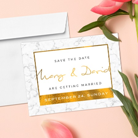 Foil Invitations - Copper, Silver, or Gold Foil Printing UPrinting