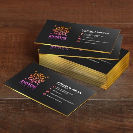 Painted Edge Business Card Printing - Thick Business Cards UPrinting
