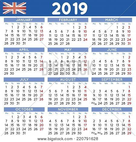 Year 2019 Squared Vector  Photo (Free Trial) Bigstock