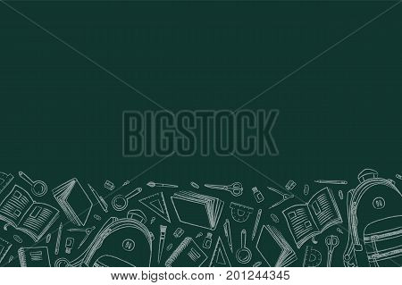 Back School Doodles Vector  Photo (Free Trial) Bigstock - chalkboard writing template