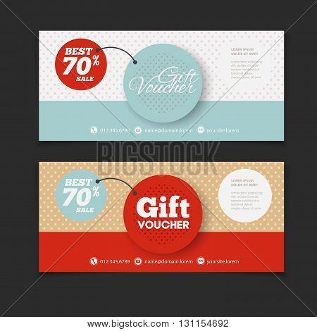 Abstract Gift Voucher Coupon Vector  Photo Bigstock - blank voucher