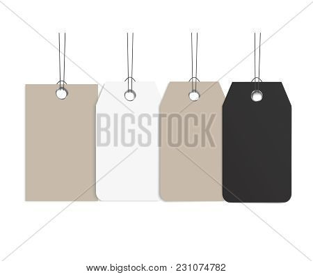 Blank Dangling Paper Vector  Photo (Free Trial) Bigstock - blank label template